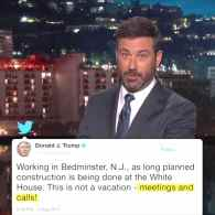 Kimmel Trump vacation
