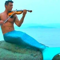 The Shirtless Violinist and His Boyfriend Want to Be 'Part of Your World' — WATCH