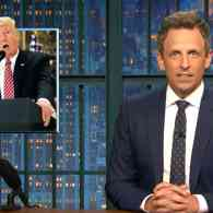 Seth Meyers Gasps at the Racist-in-Chief's 'Clinically Insane' Press Conference: 'Where Does It Stop?' – WATCH