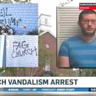 Organist Says Fear of Trump Future Made Him Paint Nazi, Anti-Gay Graffiti on Church. His Fears Have Been Realized.