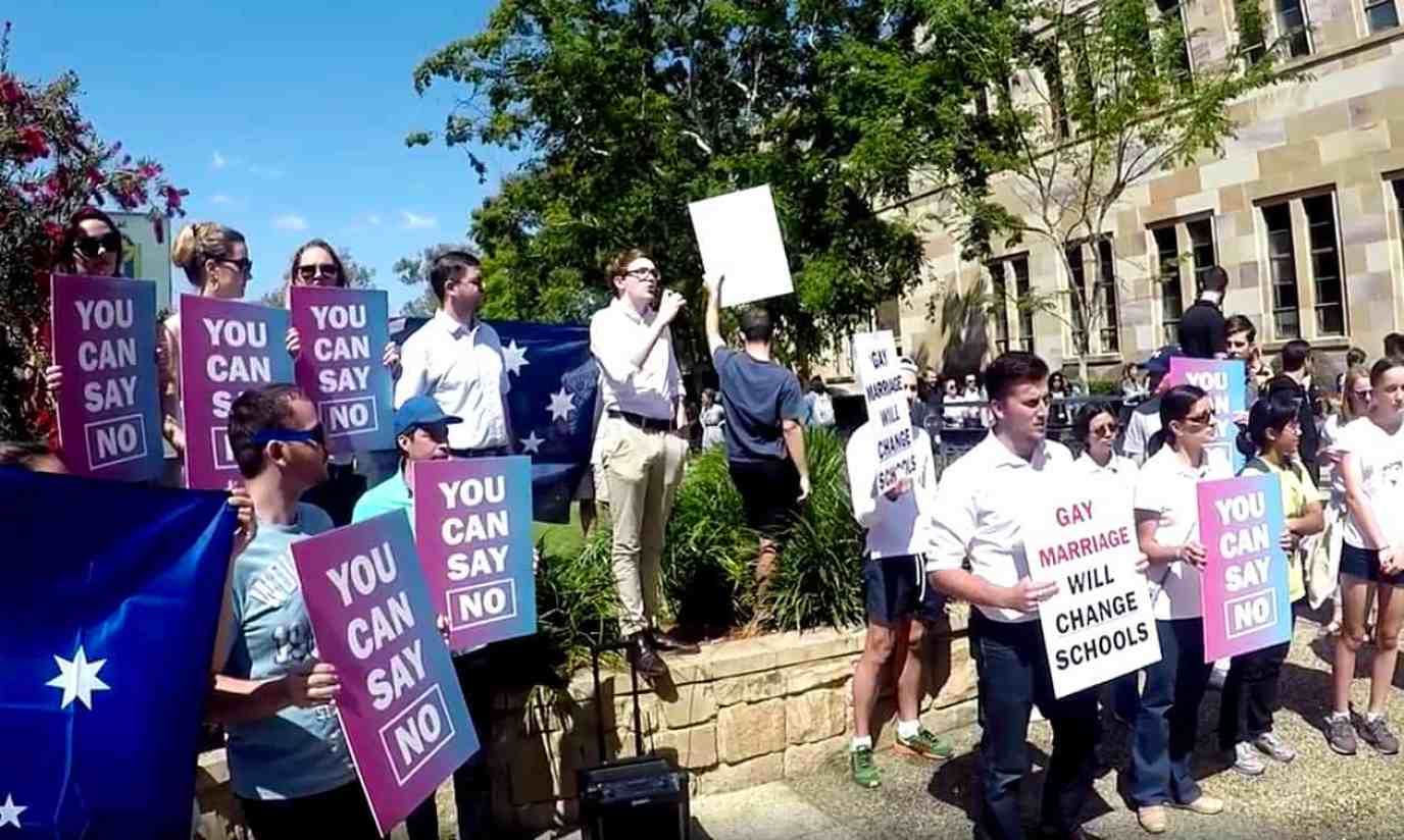 against same sex marriage speech in Gloucestershire