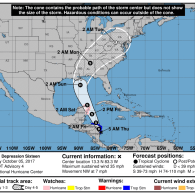 Tropical Depression Forms, Could Hit Gulf Coast as Hurricane Nate