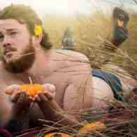 Bearded Stud's Sexy Pumpkin 'Dudeoir' Pin-Up Shoot is Going Viral