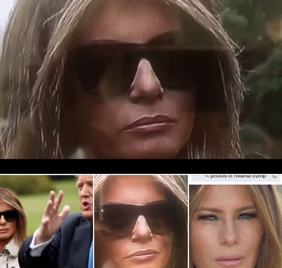 Melania body double