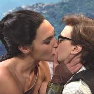 Gal Gadot Kisses Kate McKinnon as SNL Probes the Gay Subtext of 'Wonder Woman' — WATCH