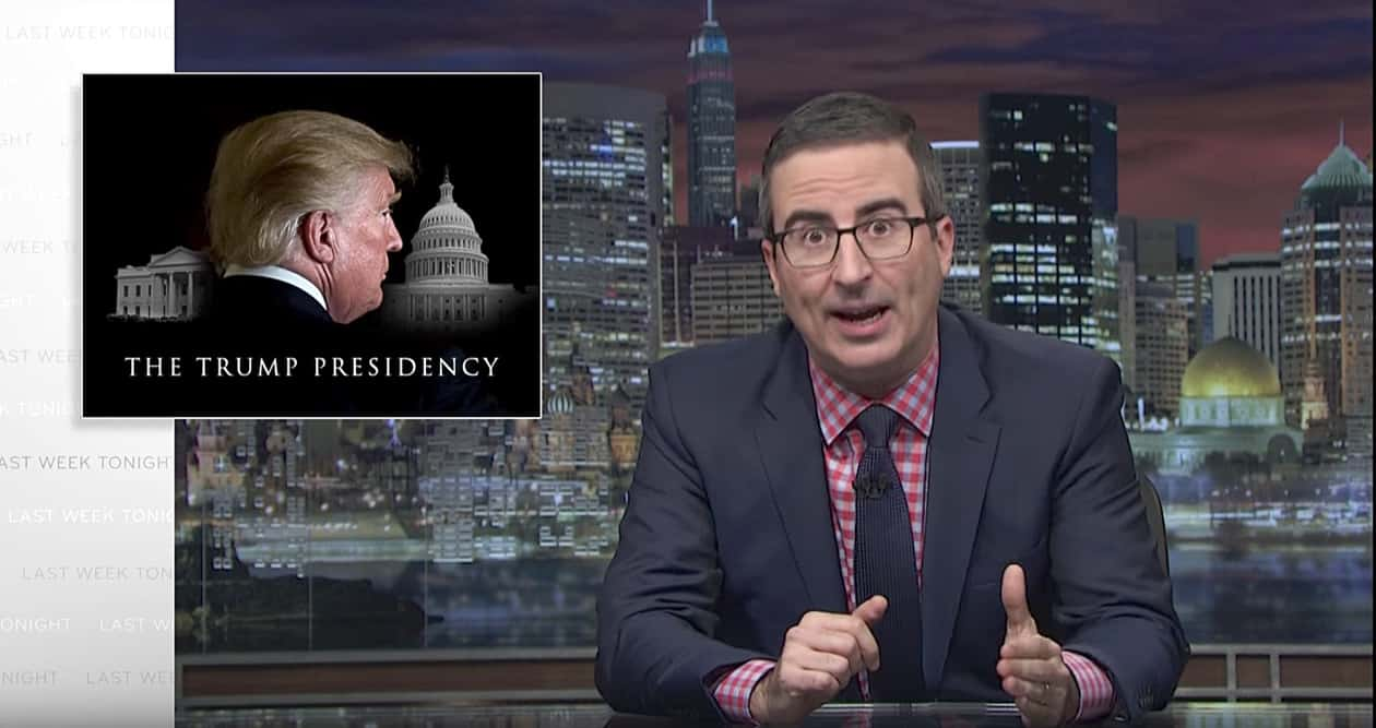 John Oliver says Trump presidency is like being 'murdered by a sloth'