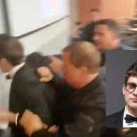 Homocon WH Reporter Lucian Wintrich Arrested After Assaulting Protester at 'It's Ok to Be White' Speech – WATCH