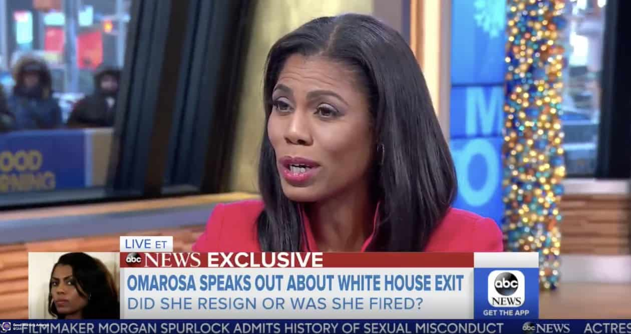 Omarosa Lawyering Up, May Have Secretly Taped Confidential WH Conversations