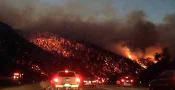 405 freeway fire