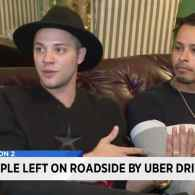 Uber Driver Kicks Gay Couple Out on Side of Freeway After They Kiss