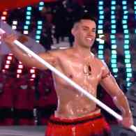 Oiled and Shirtless Tonga Athlete Pita Taufatofua Returns to the Winter Olympics Opening Ceremony: WATCH