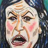 Jim Carrey Portrait of Sarah Huckabee Sanders Goes Viral