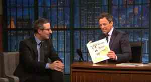 john oliver seth meyers gay bunny book