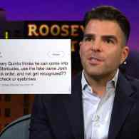Zachary Quinto Busted for Using Fake Name at Starbucks: WATCH