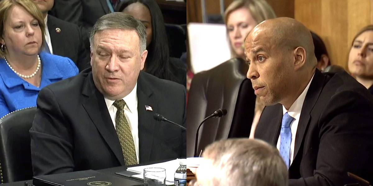 Mike Pompeo Cory Booker