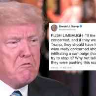Trump is Now Quoting Voice of Reason Rush Limbaugh in His Attacks on the FBI