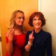 Kathy Griffin and Stormy Daniels Give the One-Fingered Salute to Trump