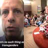 Hideous Pastor Disrupts Public Library's Drag Queen Story Hour to Tell Kids That Transgender People Don't Exist: WATCH