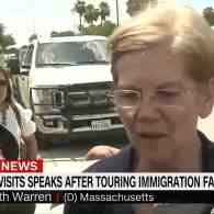 Elizabeth Warren Describes 'Disturbing' Visit to Immigration Detention Center in Texas: WATCH