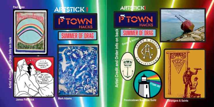 Provincetown stickers, Ptown stickers, art stickers