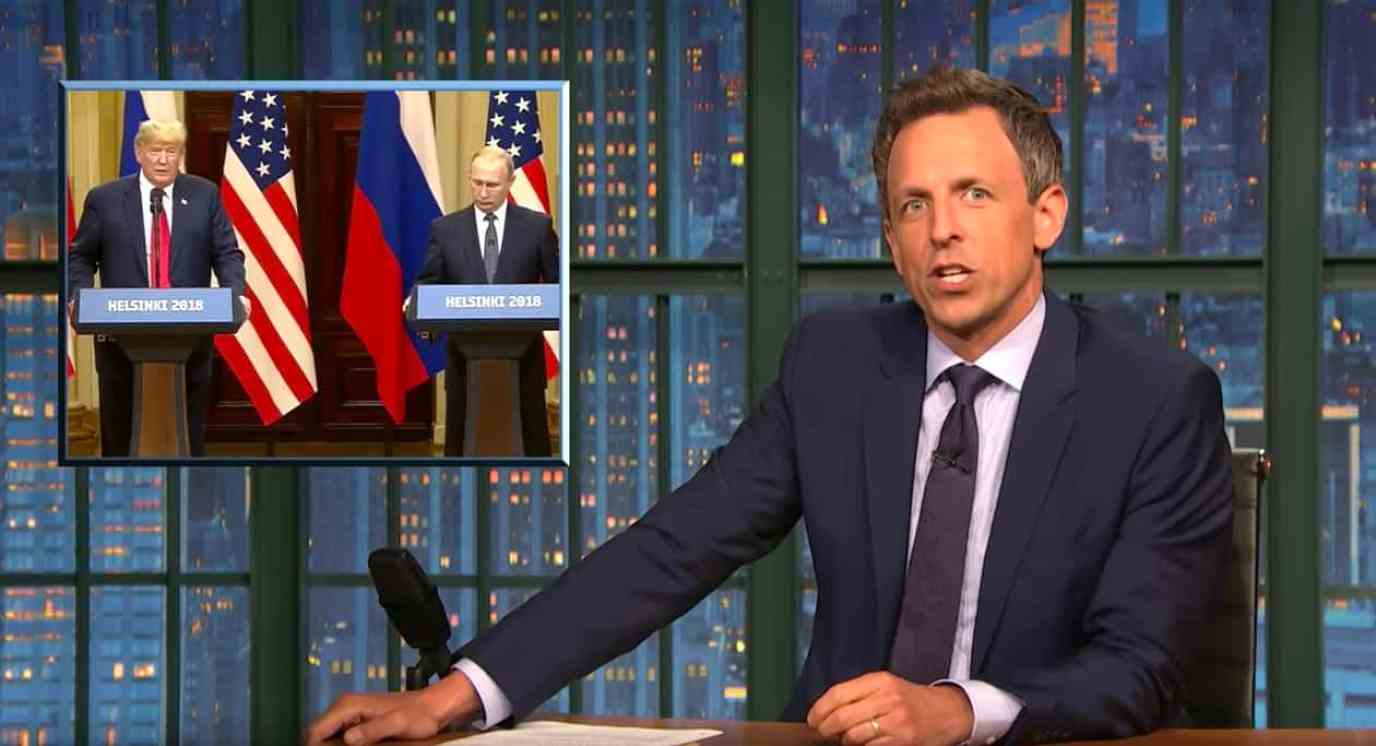 treason summit Seth Meyers