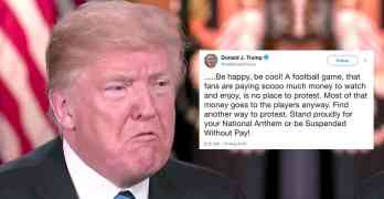 trump national anthem