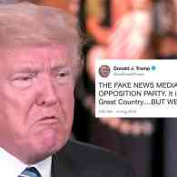 Trump Calls 'Fake News Media' the 'Opposition Party' as News Outlets Join Coordinated Push to Denounce His Rhetoric