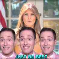 Melania Trump Randy Rainbow Be Best