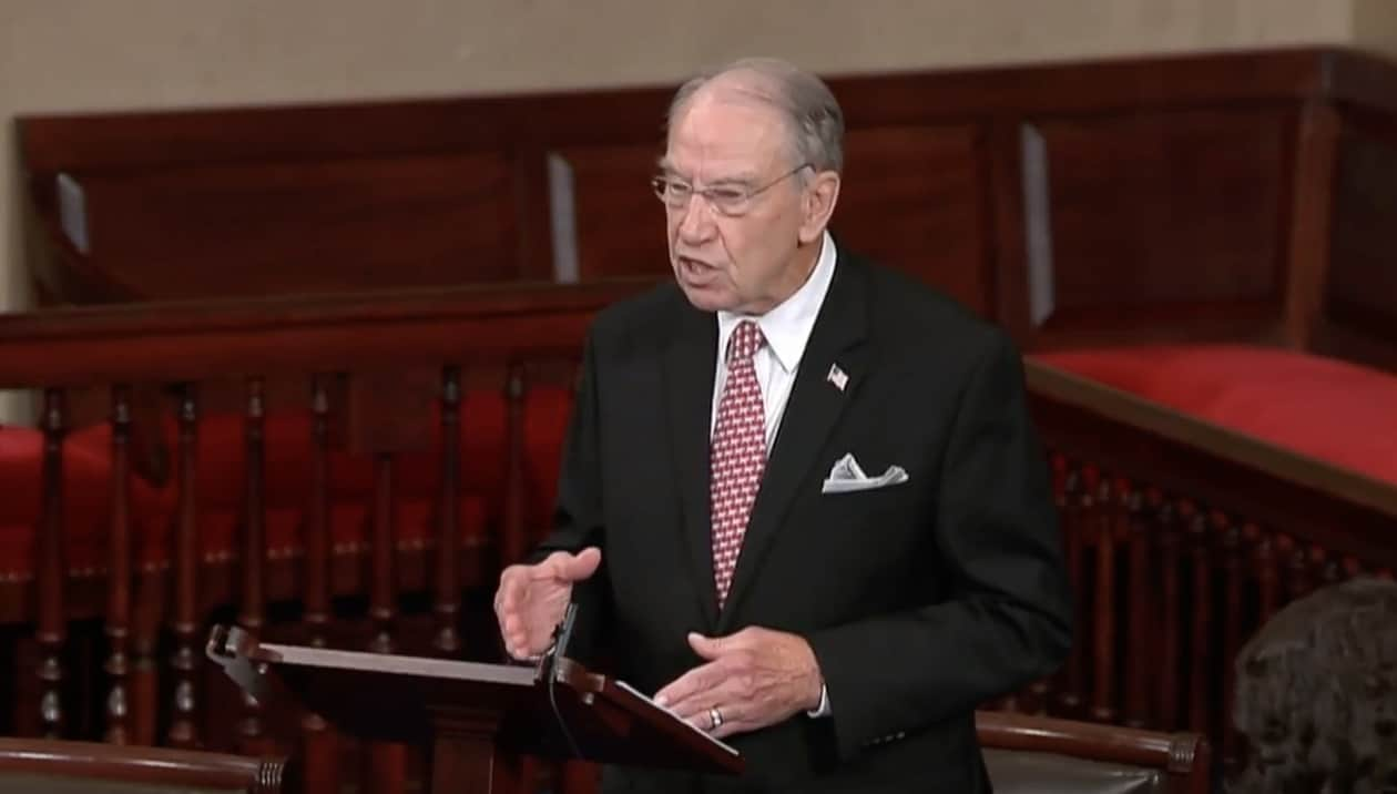 Sen. Grassley, 87, quarantining after virus exposure