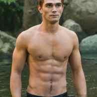 KJ Apa shirtless