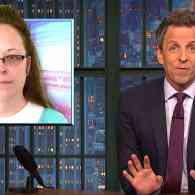 Seth Meyers Celebrates Defeat of Kim Davis and the 'Blue Ripple' as Dems Take Back the House: WATCH