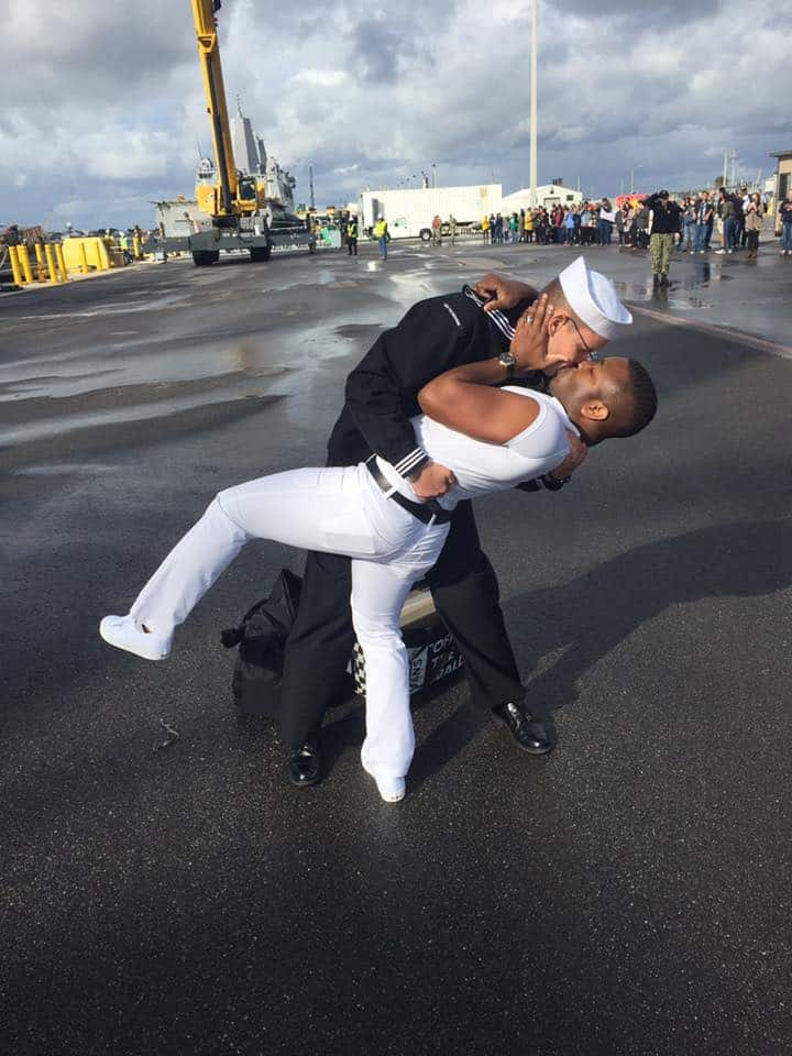 Gay Sailor S Homecoming Kiss Prompts Wrath From Local News