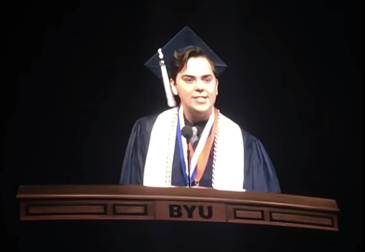 BYU valedictorian comes out as gay during graduation speech