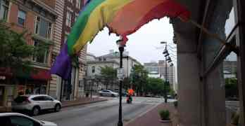 pride flag burned