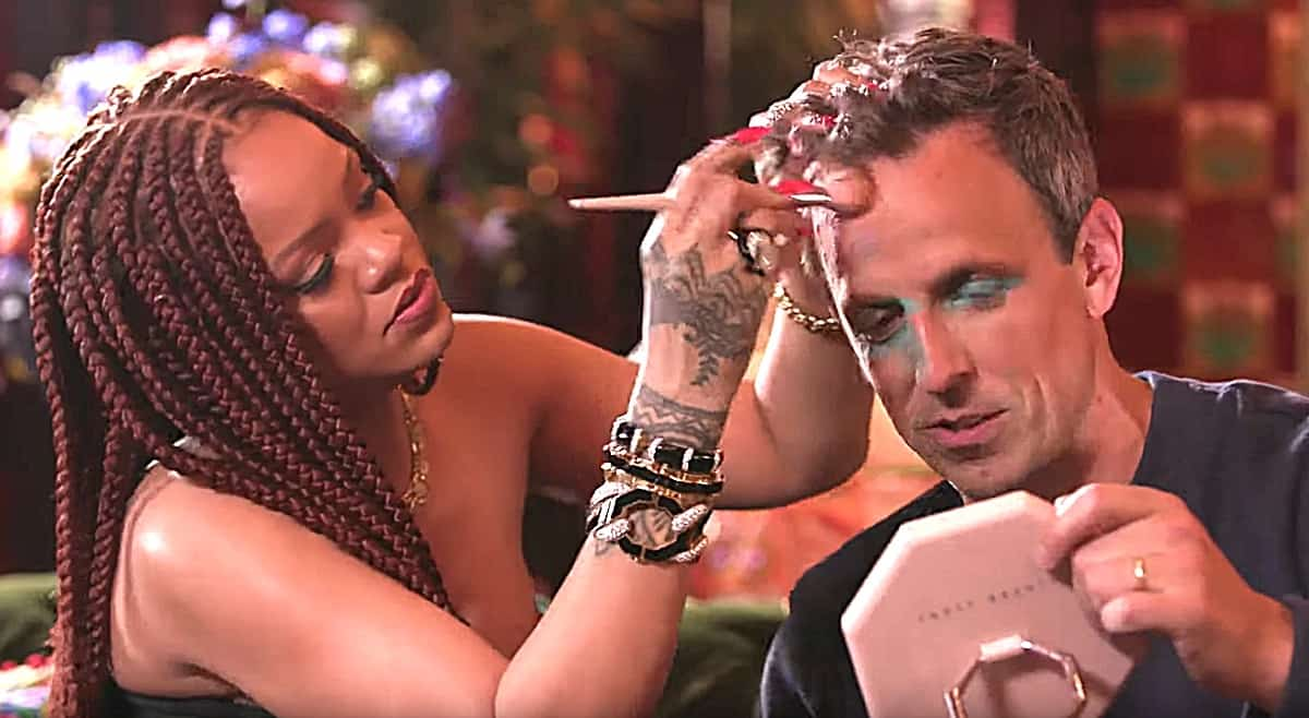 Seth Meyers and Rihanna Had a Hilarious Day Drinking Session