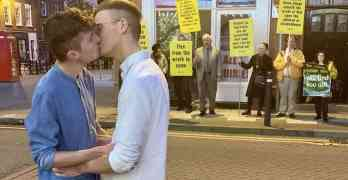 gay couple kiss viral photo