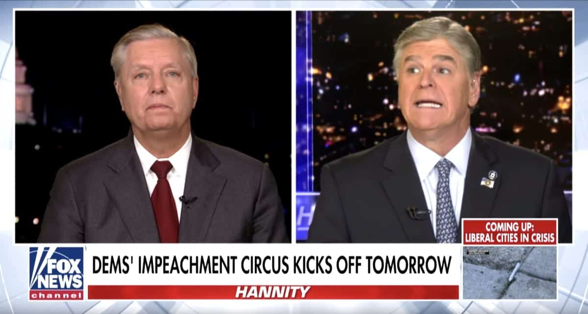 Sean Hannity and Lindsey Graham Blasted 'Un-American, Rigged, Fraudulent, Show Trial' Impeachment Hearings in Desperate FOX News Rants: WATCH - Towleroad