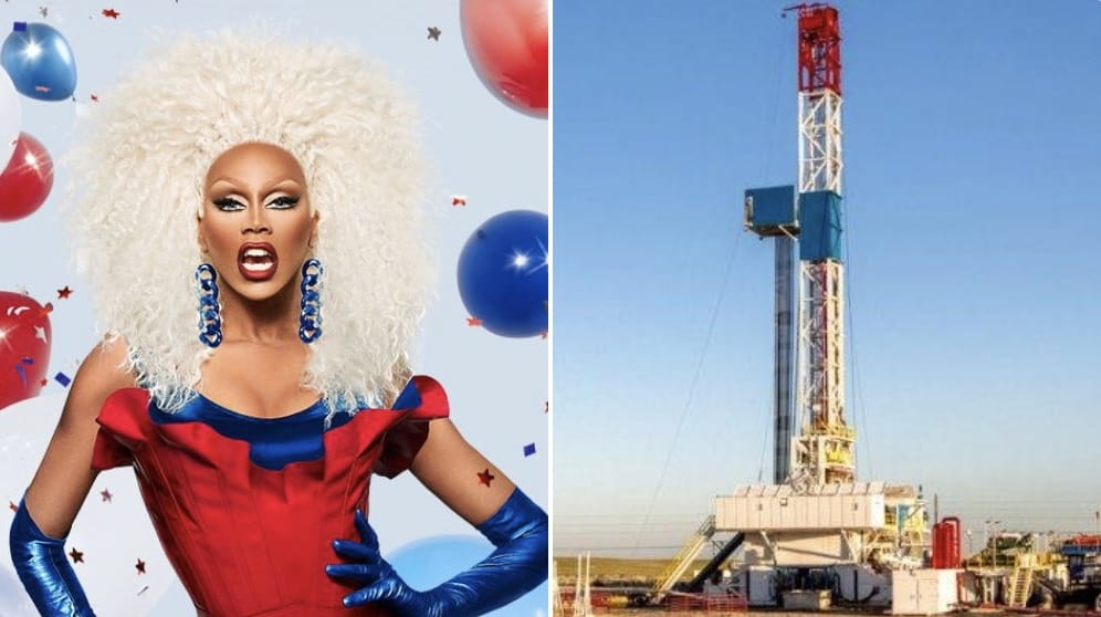 Who Wore It Better Rupaul Or A Fracking Rig Twitter S Latest Meme Is A Drag And A Gas Towleroad Gay News