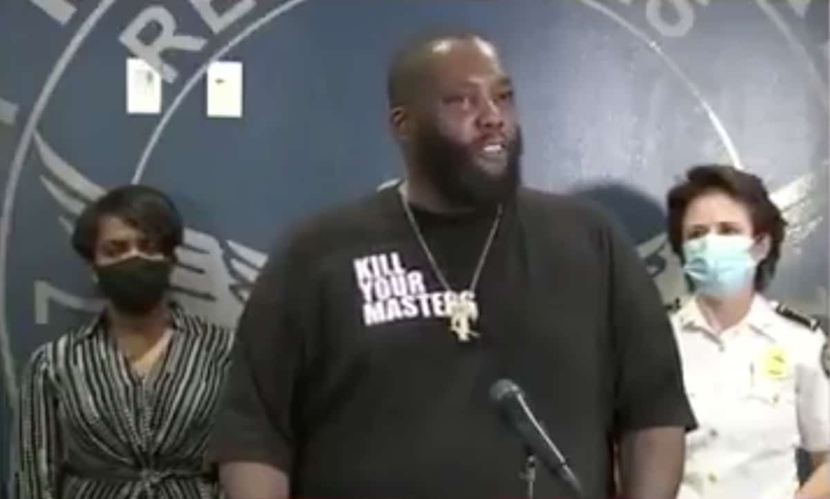 Killer Mike gives powerful speech after violence erupts during Atlanta protest