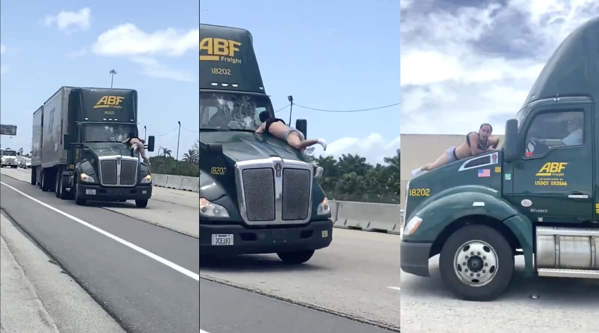 Florida man clings to semi truck hood for 9 miles on freeway