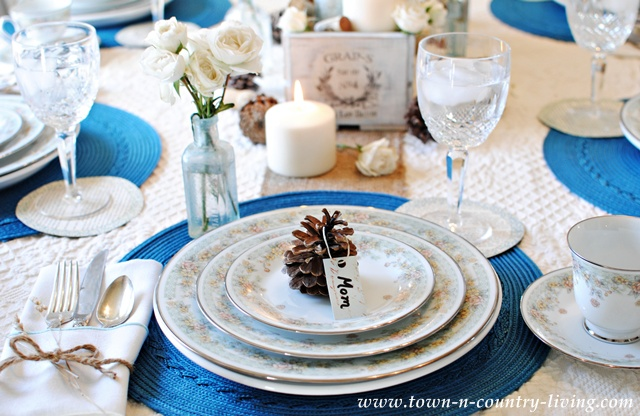Thanksgiving Table Setting via Town and Country Living