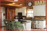 Charming Log Home ~ Creative Cain Cabin | Shelves ...