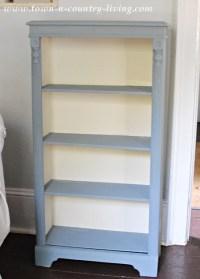 Chalk paint bookcase makeover - Jennifer Rizzo