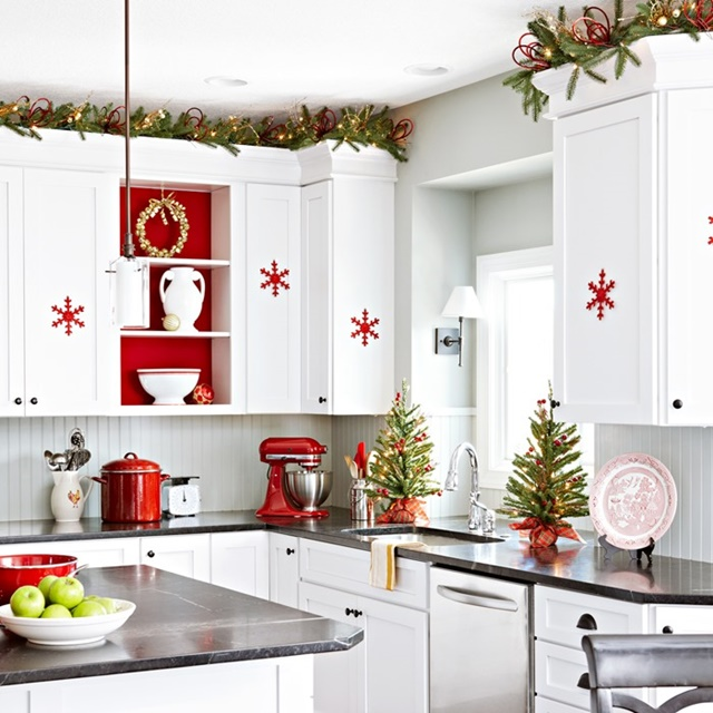 Red and White Scandinavian Christmas  Town  Country Living