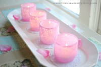DIY Pink Frosted Votive Candle Holders - Town & Country Living