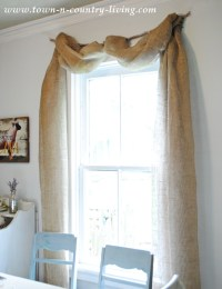 No-Sew Landscape Burlap Swag Curtains - Town & Country Living