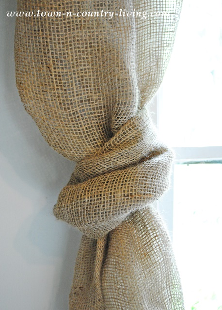 No Sew Landscape Burlap Swag Curtains Town Amp Country Living