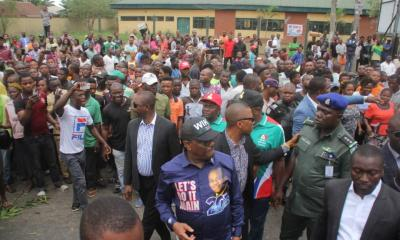 Governor Wike Stops Convoy, Attends To Accident Victim