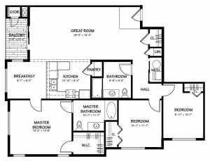 3 Bed / 2 Bath / 1,461 sq ft / Rent: Please Call