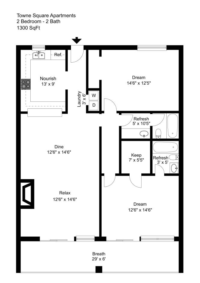 Elegant 1 And 2 Bedroom Granbury
